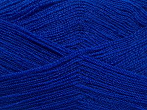 Very thin yarn. It is spinned as two threads. So you will knit as two threads. Yardage information is for only one strand. Fiber Content 100% Acrylic, Brand Ice Yarns, Dark Blue, fnt2-66179