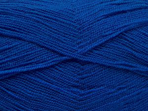 Very thin yarn. It is spinned as two threads. So you will knit as two threads. Yardage information is for only one strand. Fiber Content 100% Acrylic, Brand Ice Yarns, Blue, fnt2-66180