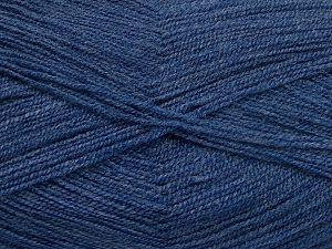 Very thin yarn. It is spinned as two threads. So you will knit as two threads. Yardage information is for only one strand. Fiber Content 100% Acrylic, Jeans Blue, Brand Ice Yarns, fnt2-66181