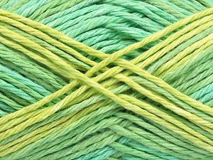 Colors in different lots may vary because of the charateristics of the yarn. Also see the package photos for the colorway in full; as skein photos may not show all colors. Fiber Content 100% Cotton, Brand Ice Yarns, Green Shades, fnt2-66254