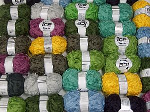 Samba Ribbon This mixed lot includes a total of 2000 gr (70.5 oz.) yarn. There is no standard for ball weight. You will get what you see in the photo. İçerik 100% Akrilik, Brand Ice Yarns, fnt2-66383