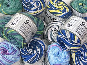 Cakes Air This mixed lot includes a total of 2000 gr (70.5 oz.) yarn. There is no standard for ball weight. You will get what you see in the photo. İçerik 50% Akrilik, 50% Polyamid, Brand Ice Yarns, fnt2-66413