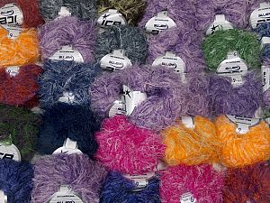 Techno Star This mixed lot includes a total of 2000 gr (70.5 oz.) yarn. There is no standard for ball weight. Also disregard any information on the labels. You will get what you see in the photo. Fiber Content 100% Polyamide, Brand Ice Yarns, fnt2-66483
