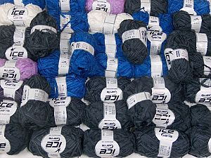 Samba Ribbon This mixed lot includes a total of 2000 gr (70.5 oz.) yarn. There is no standard for ball weight. You will get what you see in the photo. İçerik 100% Akrilik, Brand Ice Yarns, fnt2-66515