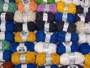 Samba Ribbon This mixed lot includes a total of 2000 gr (70.5 oz.) yarn. There is no standard for ball weight. You will get what you see in the photo. İçerik 100% Akrilik, Brand Ice Yarns, fnt2-66516