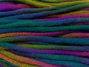 Fiber Content 80% Acrylic, 20% Wool, Brand Ice Yarns, Green Shades, Gold, Fuchsia, Blue, fnt2-66537