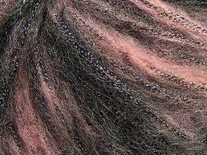 Fiber Content 30% Polyester, 30% Acrylic, 25% Wool, 15% Metallic Lurex, Light Pink, Brand Ice Yarns, Black, fnt2-66538