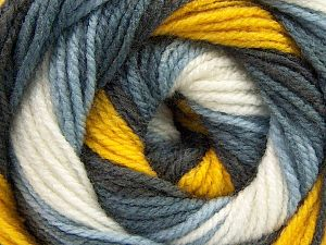 İçerik 100% Akrilik, Yellow, White, Brand Ice Yarns, Grey Shades, fnt2-66545