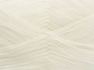 Very thin yarn. It is spinned as two threads. So you will knit as two threads. Yardage information is for only one strand. Fiber Content 100% Acrylic, White, Brand Ice Yarns, fnt2-66550