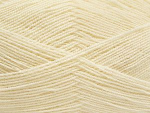 Very thin yarn. It is spinned as two threads. So you will knit as two threads. Yardage information is for only one strand. Fiber Content 100% Acrylic, Light Cream, Brand Ice Yarns, fnt2-66551