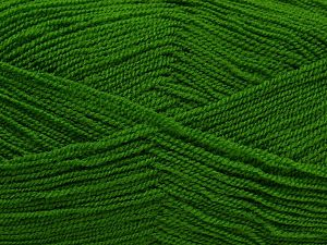 Very thin yarn. It is spinned as two threads. So you will knit as two threads. Yardage information is for only one strand. Fiber Content 100% Acrylic, Brand Ice Yarns, Green, fnt2-66552