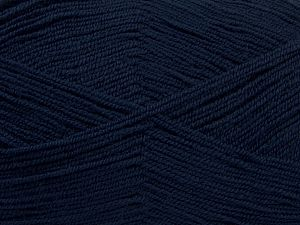 Very thin yarn. It is spinned as two threads. So you will knit as two threads. Yardage information is for only one strand. Fiber Content 100% Acrylic, Brand Ice Yarns, Dark Navy, fnt2-66553