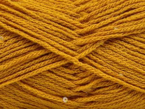Fiber Content 98% Acrylic, 2% Paillette, Brand Ice Yarns, Gold, fnt2-66557