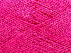 Vezelgehalte 50% Acryl, 50% Katoen, Neon Pink, Brand Ice Yarns, Yarn Thickness 2 Fine  Sport, Baby, fnt2-66563
