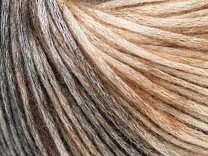 Modal is a type of yarn which is mixed with the silky type of fiber. It is derived from the beech trees. Fiber Content 74% Modal, 26% Wool, Brand Ice Yarns, Brown Shades, Black, fnt2-66592