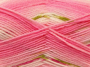 Fiber Content 100% Baby Acrylic, White, Pink, Brand ICE, Green, Yarn Thickness 2 Fine  Sport, Baby, fnt2-22047