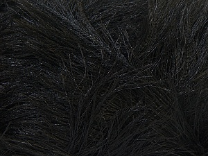 Fiber Content 100% Polyester, Brand ICE, Black, Yarn Thickness 5 Bulky  Chunky, Craft, Rug, fnt2-22697