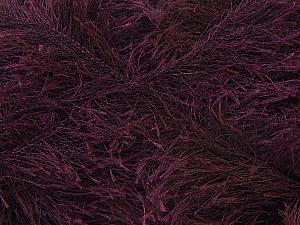 Fiber Content 100% Polyester, Brand ICE, Dark Maroon, Yarn Thickness 5 Bulky  Chunky, Craft, Rug, fnt2-22718