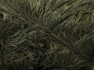 Fiber Content 100% Polyester, Brand ICE, Dark Khaki, Yarn Thickness 5 Bulky  Chunky, Craft, Rug, fnt2-22742