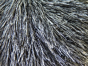 Fiber Content 100% Polyester, White, Brand ICE, Black, Yarn Thickness 5 Bulky  Chunky, Craft, Rug, fnt2-22748