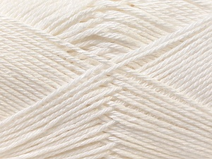 Fiber Content 100% Mercerised Cotton, White, Brand ICE, Yarn Thickness 2 Fine  Sport, Baby, fnt2-23322