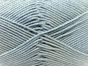 Fiber Content 100% Mercerised Cotton, Brand ICE, Grey, Yarn Thickness 2 Fine  Sport, Baby, fnt2-23324
