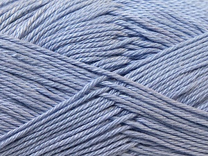 Fiber Content 100% Mercerised Cotton, Light Lilac, Brand ICE, Yarn Thickness 2 Fine  Sport, Baby, fnt2-23336