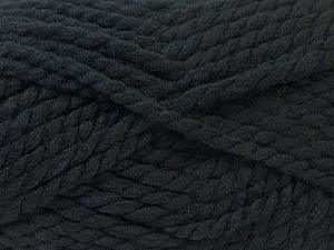 SuperBulky  Fiber Content 55% Acrylic, 45% Wool, Brand ICE, Black, Yarn Thickness 6 SuperBulky  Bulky, Roving, fnt2-24935