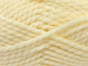 SuperBulky  Fiber Content 55% Acrylic, 45% Wool, Brand ICE, Cream, Yarn Thickness 6 SuperBulky  Bulky, Roving, fnt2-24939