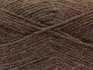 Fiber Content 70% Dralon, 30% Alpaca, Brand ICE, Brown, Yarn Thickness 4 Medium  Worsted, Afghan, Aran, fnt2-25375