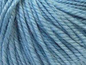 Fiber Content 40% Acrylic, 35% Wool, 25% Alpaca, Light Blue, Brand ICE, Yarn Thickness 5 Bulky  Chunky, Craft, Rug, fnt2-25405