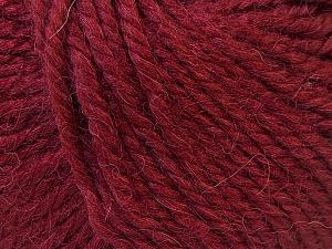 Fiber Content 40% Acrylic, 35% Wool, 25% Alpaca, Brand ICE, Burgundy, Yarn Thickness 5 Bulky  Chunky, Craft, Rug, fnt2-25413