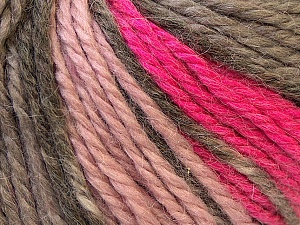 Fiber Content 40% Acrylic, 35% Wool, 25% Alpaca, Pink, Light Pink, Brand ICE, Grey, Yarn Thickness 5 Bulky  Chunky, Craft, Rug, fnt2-25422
