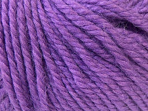 Fiber Content 40% Acrylic, 35% Wool, 25% Alpaca, Purple, Brand ICE, Yarn Thickness 5 Bulky  Chunky, Craft, Rug, fnt2-25450