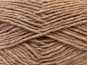Fiber Content 70% Dralon, 30% Alpaca, Light Brown, Brand ICE, Yarn Thickness 4 Medium  Worsted, Afghan, Aran, fnt2-25671