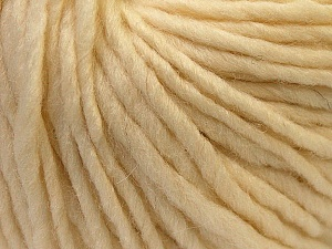 Fiber Content 100% Wool, Brand ICE, Cream, Yarn Thickness 5 Bulky  Chunky, Craft, Rug, fnt2-25993