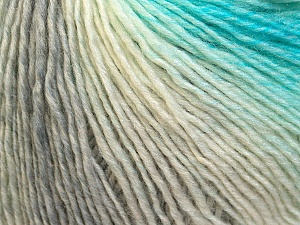 Fiber Content 50% Acrylic, 50% Wool, White, Turquoise, Brand ICE, Grey, Yarn Thickness 3 Light  DK, Light, Worsted, fnt2-27148