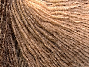 Fiber Content 50% Wool, 50% Acrylic, Brand ICE, Cream, Camel, Yarn Thickness 3 Light  DK, Light, Worsted, fnt2-27149