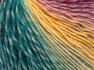 Fiber Content 50% Wool, 50% Acrylic, Yellow, Red, Brand ICE, Emerald Green, Blue, Yarn Thickness 3 Light  DK, Light, Worsted, fnt2-27158