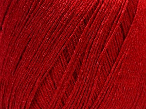 Fiber Content 50% Viscose, 50% Linen, Brand Ice Yarns, Dark Red, Yarn Thickness 2 Fine  Sport, Baby, fnt2-27261