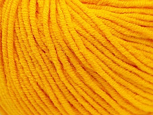 Fiber Content 50% Cotton, 50% Acrylic, Yellow, Brand ICE, Yarn Thickness 3 Light  DK, Light, Worsted, fnt2-27356
