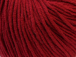 Fiber Content 50% Cotton, 50% Acrylic, Brand ICE, Burgundy, Yarn Thickness 3 Light  DK, Light, Worsted, fnt2-27359