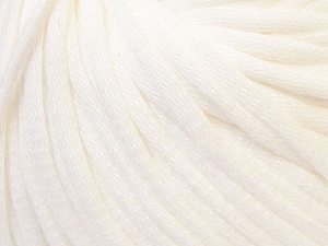 This is a tube-like yarn with soft cotton fleece filled inside. Fiber Content 70% Cotton, 30% Polyester, White, Brand ICE, Yarn Thickness 5 Bulky  Chunky, Craft, Rug, fnt2-32487
