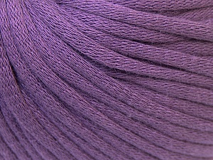 This is a tube-like yarn with soft cotton fleece filled inside. Fiber Content 70% Cotton, 30% Polyester, Lavender, Brand ICE, Yarn Thickness 5 Bulky  Chunky, Craft, Rug, fnt2-32501