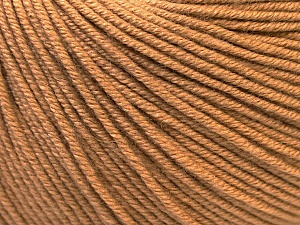 Fiber Content 60% Cotton, 40% Acrylic, Light Brown, Brand ICE, Yarn Thickness 2 Fine  Sport, Baby, fnt2-32565
