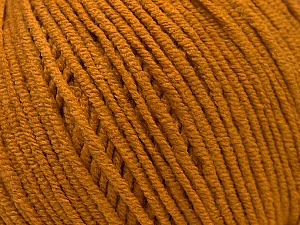 Fiber Content 50% Acrylic, 50% Cotton, Brand ICE, Dark Gold, Yarn Thickness 3 Light  DK, Light, Worsted, fnt2-33059