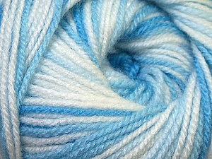 Fiber Content 100% Premium Acrylic, White, Brand ICE, Blue Shades, Yarn Thickness 3 Light  DK, Light, Worsted, fnt2-33391