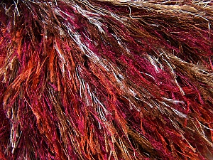 Fiber Content 100% Polyester, White, Red, Purple, Brand ICE, Brown, Yarn Thickness 5 Bulky  Chunky, Craft, Rug, fnt2-34128