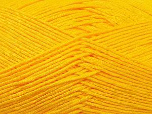 Fiber Content 100% Antibacterial Dralon, Yellow, Brand ICE, Yarn Thickness 2 Fine  Sport, Baby, fnt2-34594