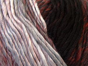 Fiber Content 60% Wool, 40% Acrylic, Brand ICE, Grey, Burgundy, Brown, Black, Yarn Thickness 4 Medium  Worsted, Afghan, Aran, fnt2-34603